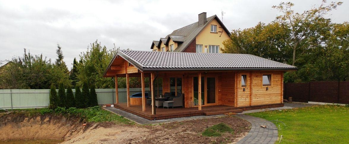 Rąstinis namas su kubilu