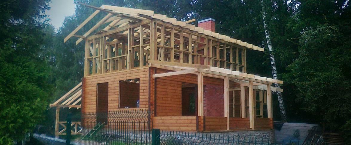 Rąstinio-karkasinio namo statybos