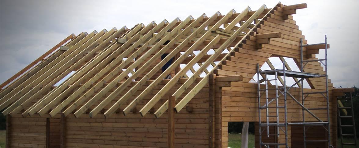 Rąstinio namo stogo dengimas